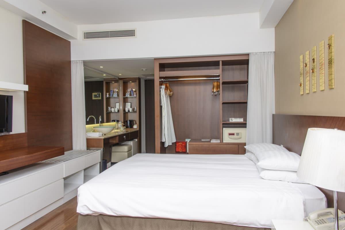 praktische dressing in hotel stijl