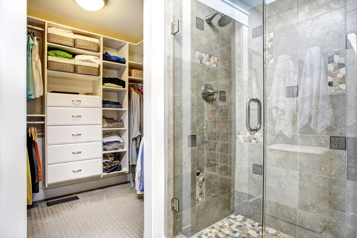 badkamer met dressing