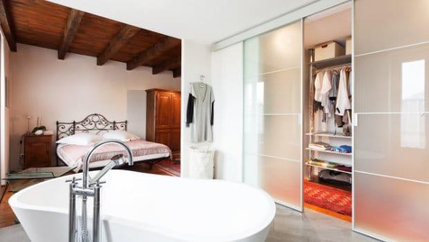 Slaapkamer met dressing en badkamer bespaar ruimte in je interieur - Slaapkamer met badkamer en dressing ...